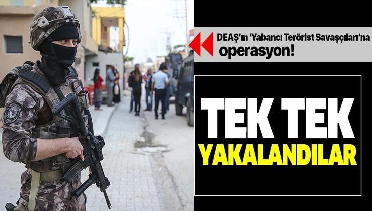 DEAŞ'ın 'Yabancı Terörist Savaşçıları'na operasyon! İstanbul'da tek tek yakalandılar