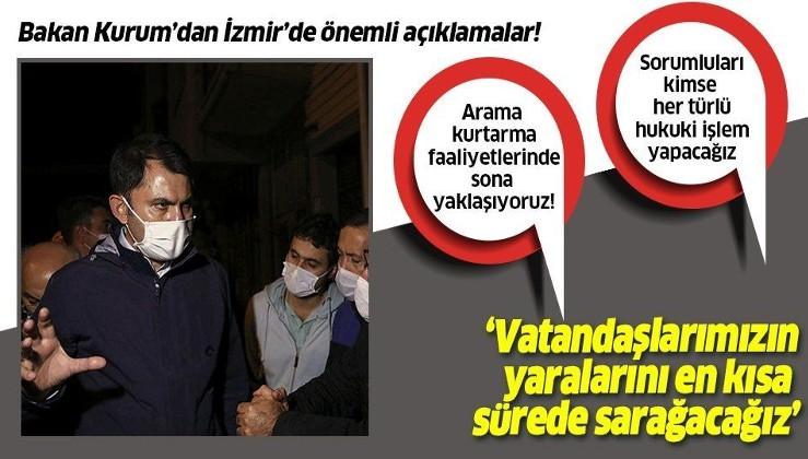 Çevre ve Şehircilik Bakanı Murat Kurum'dan İzmir'de flaş açıklamalar