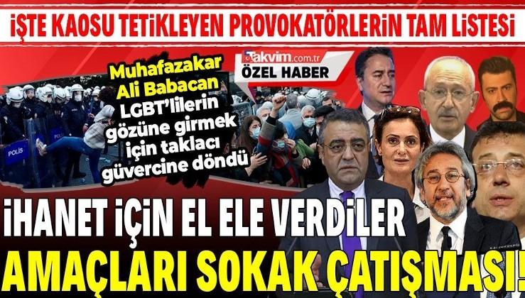 Mesele Boğaziçi değil sokak çatışması çıkarmak! CHP, HDP, DEVA, DHKP-C, PKK provokatörlerinden kaos çağrısı
