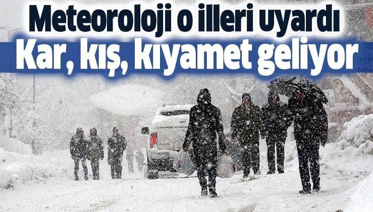 Meteoroloji o illeri uyardı! Kar geliyor!.