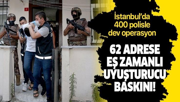 Son dakika: İstanbul'da 400 polisle dev uyuşturucu operasyonu: 75 şüpheli gözaltında