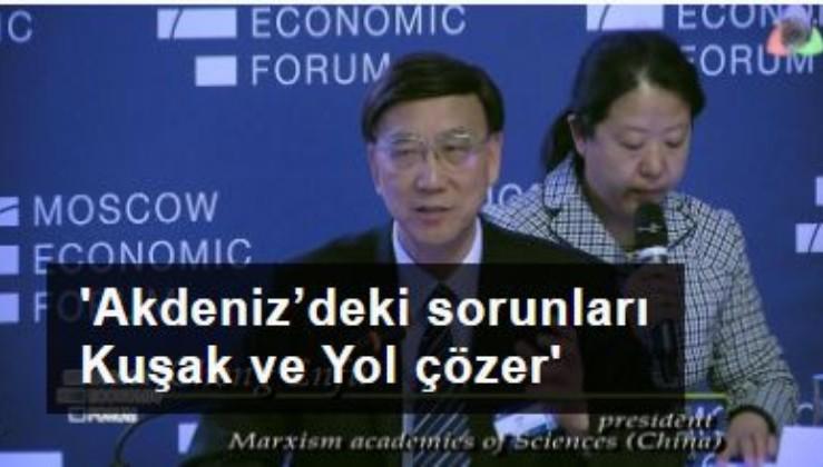 Xi Jinping'in danışmanı Prof. Cheng Enfu: Doğu Akdeniz'deki sorunları Kuşak ve Yol çözer