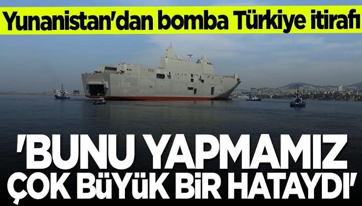 Yunanistan'dan bomba Türkiye itirafı: Bunu yapmamız çok büyük bir hataydı
