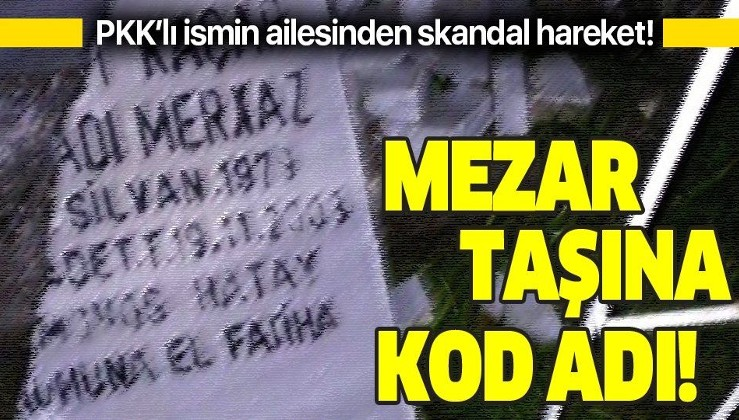 Diyarbakır'da rezalet! Teröristin mezar taşına PKK'daki kod adını yazdırmışlar! Aile hakkında soruşturma başlatıldı