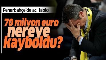 Fenerbahçe'de 70 milyon euro nereye kayboldu? İşte acı tablo...