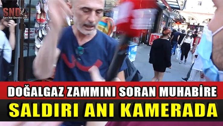 Muhabire saldırı anı kamerada