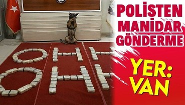 Van'da polislerden manidar gönderme! Ele geçirilen uyuşturucu paketlerinden 'OHH' yazıldı