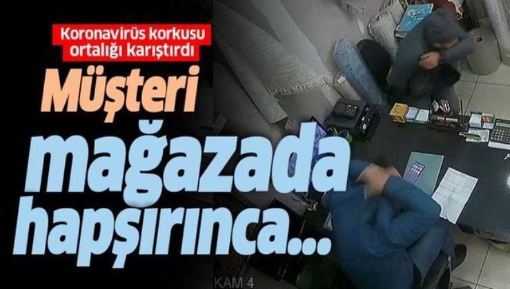 Zonguldak'ta Koronavirüs korkusu ortalığı karıştırdı! Müşteri mağazada hapşırınca....