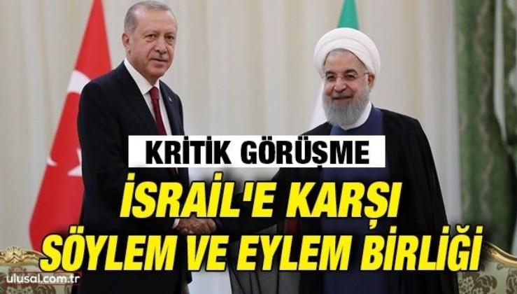 Cumhurbaşkanı Erdoğan ile İran Cumhurbaşkanı Ruhani arasında kritik görüşme: İsrail'in Filistin'deki saldırıları görüşüldü