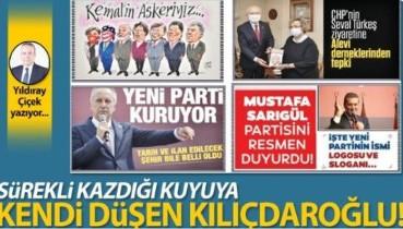 Sürekli kazdığı kuyuya kendi düşen Kılıçdaroğlu!