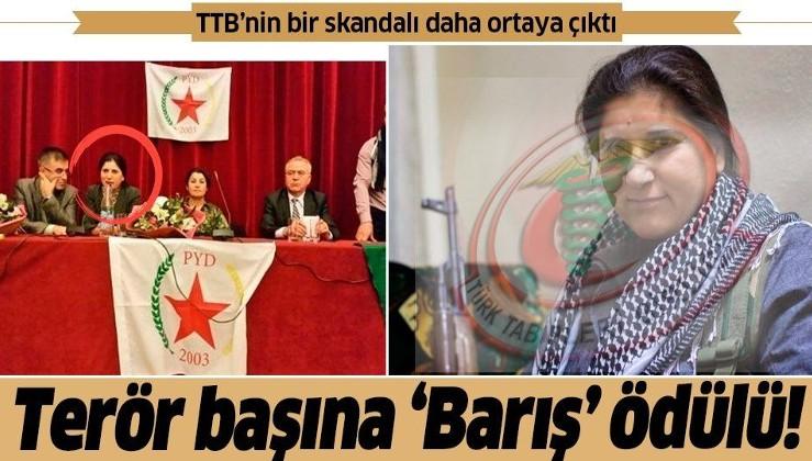 Türk Tabipleri Birliği'nin bir skandalı daha ortaya çıktı! Terör elebaşı Asya Abdullah'a 'Barış, Dostluk ve Demokrasi' ödülü!