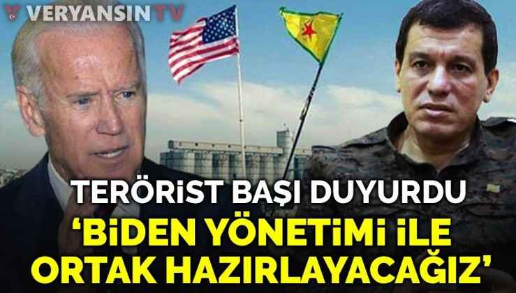 Teröristbaşı Mazlum Kobani: ABD'de Biden yönetimiyle ortak bir program hazırlayacağız