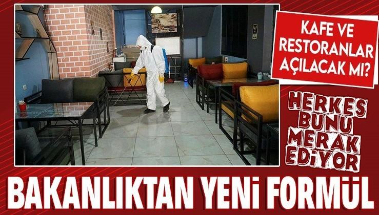 Son dakika: Kafe ve restoranlar açılacak mı? İşte Sağlık Bakanlığı'ndan yeni formülü!