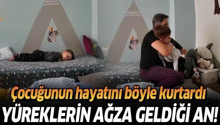 İzmir'deki depremden sıcak görüntü: Uykuda depreme yakalanan çocuğunu böyle korudu