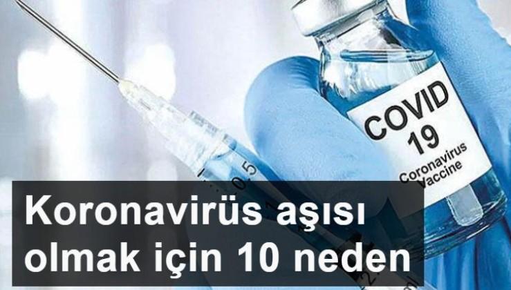 Neden koronavirüs aşısı olunmalı? İşte çarpıcı 10 madde