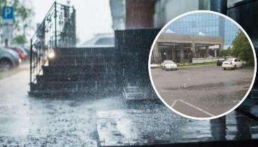 """""""Був оголошений перший рівень небезпеки!"""" - На Київ обрушилася сильна злива з градом (відео)"""