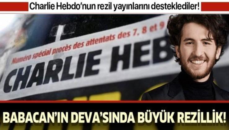 """Babacan'ın Deva Partisi'den büyük rezillik! Charlie Hebdo'nun yayınlarını """"ifade özgürlüğü"""" olarak nitelediler"""