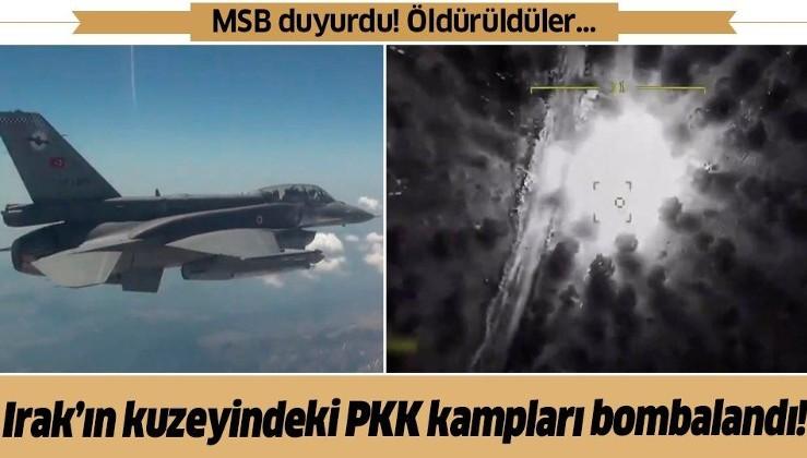 Son dakika: Irak'ın kuzeyine hava harekatı! 4 PKK'lı terörist öldürüldü