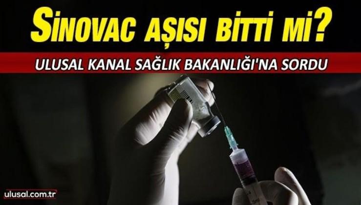 Sinovac aşısı bitti mi?