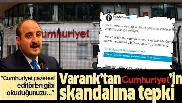 Cumhuriyet gazetesinin çarpıtma haberine tepki!