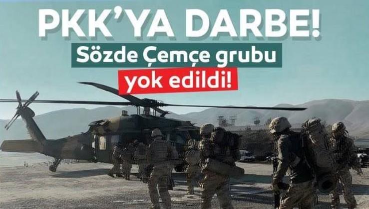 Son dakika: İçişleri Bakanlığı açıkladı! PKK'nın sözde Çemçe Grubu imha edildi