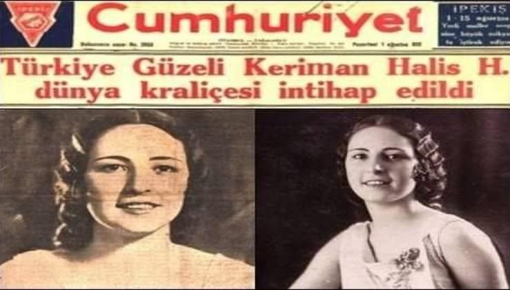 """""""Dünya Güzellik Kraliçesi"""" olan Keriman Halis"""