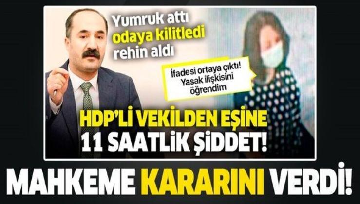 Son dakika: HDP'li Mensur Işık'tan şiddet gören Ebru Işık için koruma kararı!