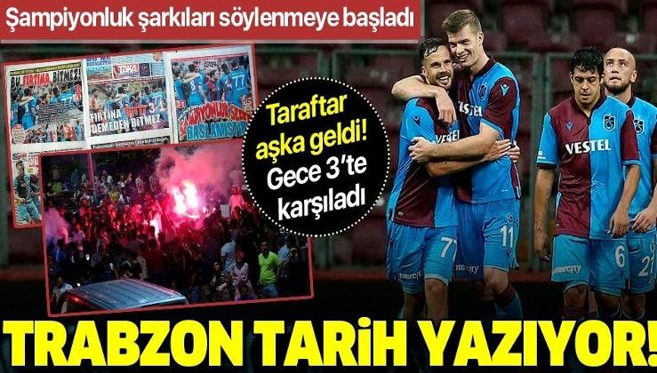 Trabzonspor tarih yazıyor! Şampiyonluk şarkıları söylenmeye başladı...