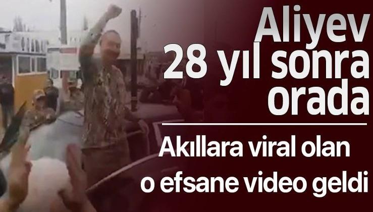 Azerbaycan Cumhurbaşkanı İlham Aliyev 28 yıl sonra Fuzuli kentini ziyaret etti