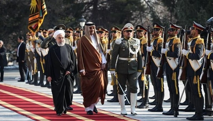 Katar Emiri'nden İran'a sürpriz ziyaret