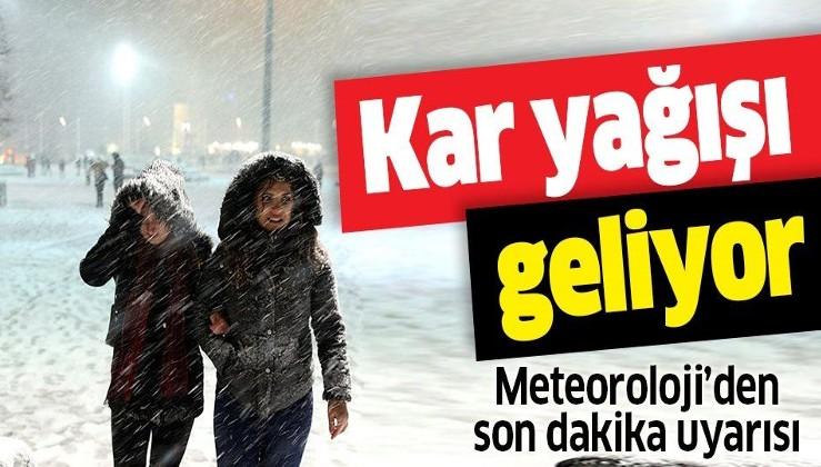 Meteoroloji'den son dakika kar yağışı uyarısı! Yarından itibaren sıcaklıklar düşüyor.