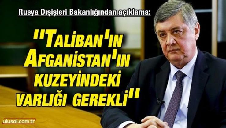 Rusya Dışişleri Bakanlığından açıklama: ''Taliban'ın Afganistan'ın kuzeyindeki varlığı gerekli''