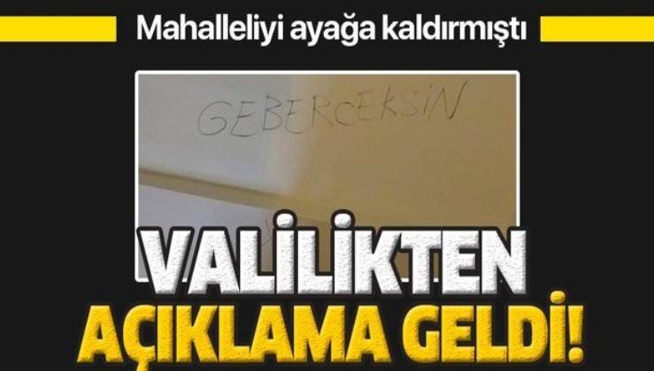 Valilik duyurdu! Sultangazi'de bir apartmanın duvarına 'Gebereceksiniz' yazan kadın gözaltına alındı!.