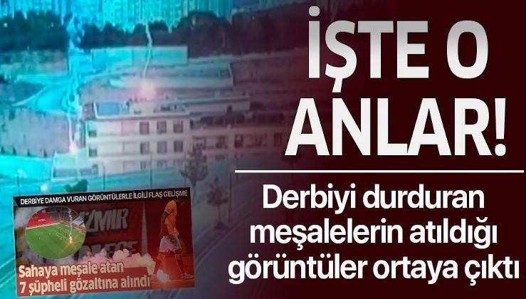 Galatasaray-Fenerbahçe derbisinde meşale yağmurunu böyle başlattılar