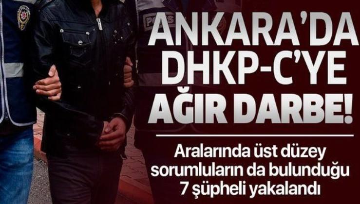 Son dakika: Ankara'da terör operasyonu: DHKP-C'li 7 kişi yakalandı