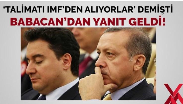Ali Babacan'dan 'bunlar faizciydi' diyen Erdoğan'a yanıt