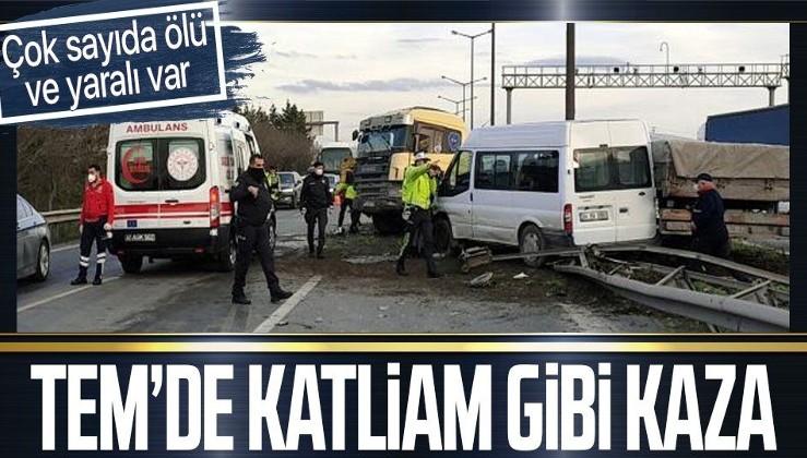Ankara-İstanbul otobanında çok sayıda aracın karıştığı zincirleme kaza! Ölü ve yaralılar var