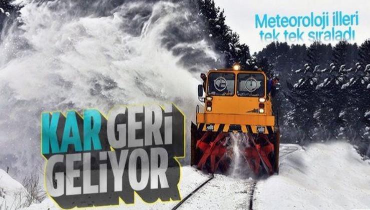 HAVA DURUMU | Kar geliyor! Meteoroloji illeri tek tek sıraladı! Kar yağacak mı? Bugün hava nasıl olacak?