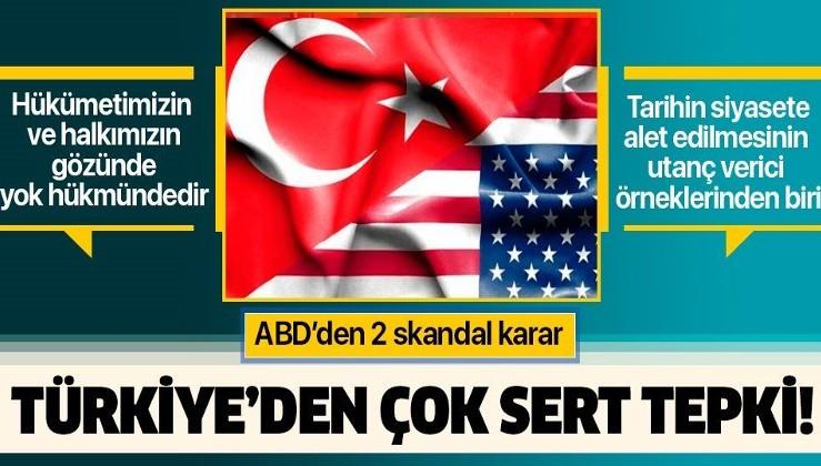 Son dakika: ABD'den 2 skandal karar! Türkiye'den peş peşe çok sert tepki.