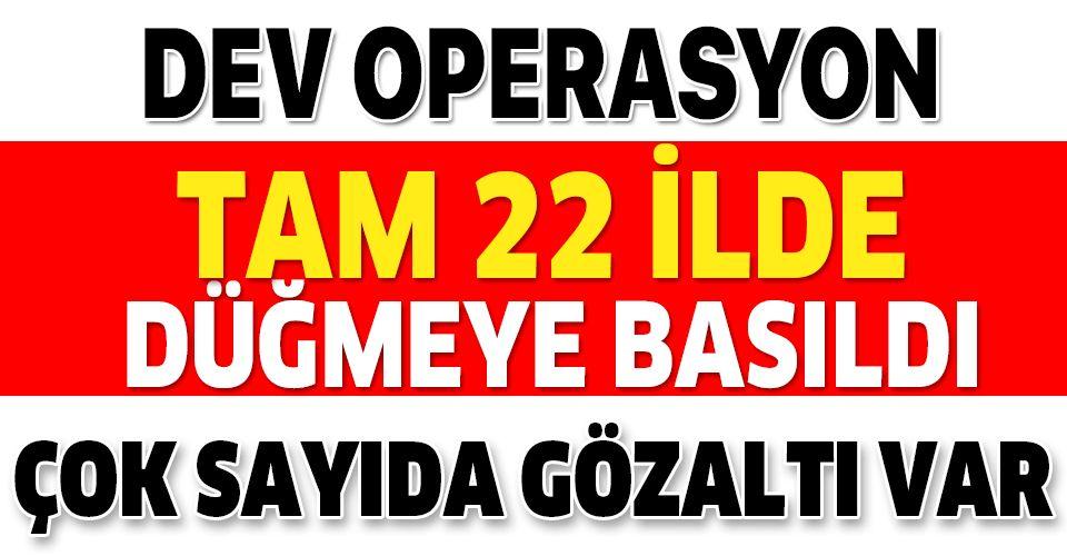 Ankara merkezli dev FETÖ operasyonu! Çok sayıda gözaltı kararı.