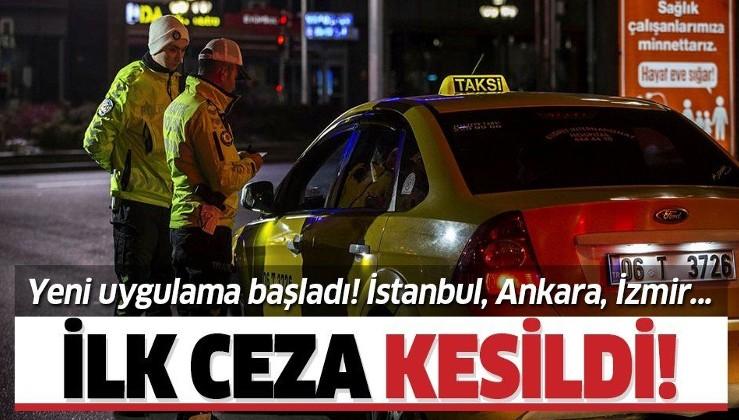 Son dakika: Taksilerde koronavirüs uygulaması başladı! Kurala uymayan taksiciye ilk ceza kesildi