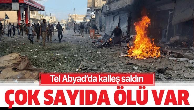 Son dakika: Tel Abyad'da bombalı terör saldırısı: Çok sayıda ölü var.