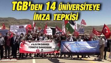 TGB'den 14 üniversiteye imza tepkisi