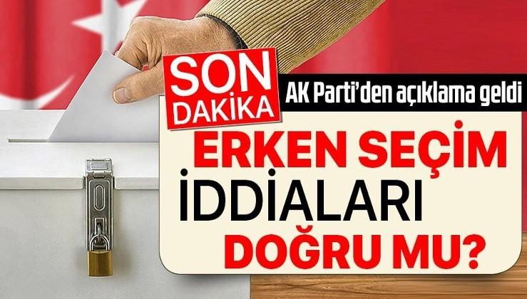 AK Parti'den son dakika açıklaması: