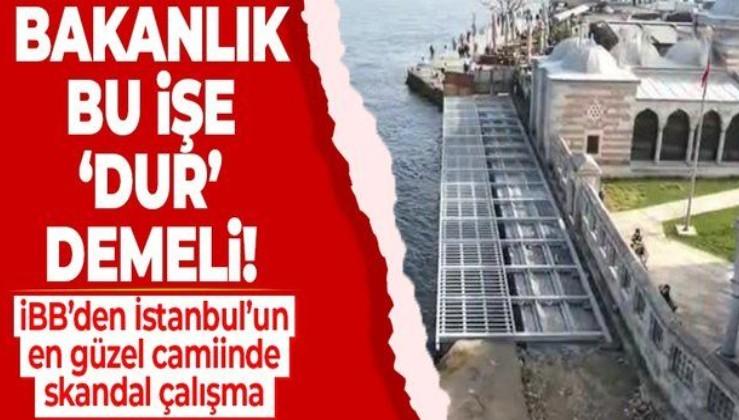 İBB'den İstanbul'un en güzel yapılarından Kuşkonmaz Camii'nde skandal çalışma