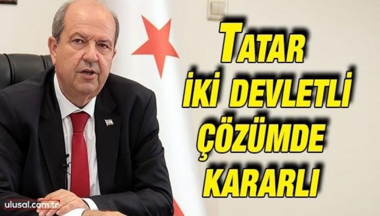 Tatar, iki devletli çözümde kararlı