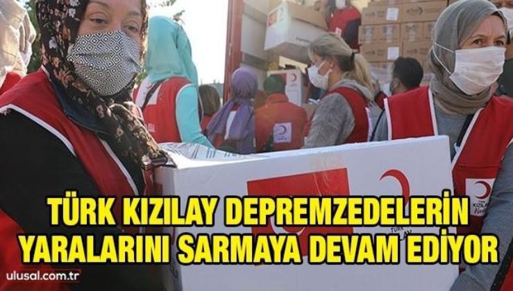 Türk Kızılay depremzedelerin yaralarını sarmaya devam ediyor