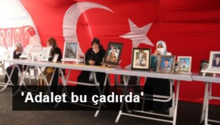 Diyarbakır annelerinden HDP yürüyüşüne tepki: Adalet bu çadırda
