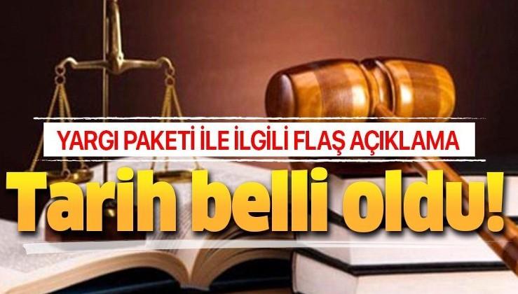 Yargı paketi açıklaması!.