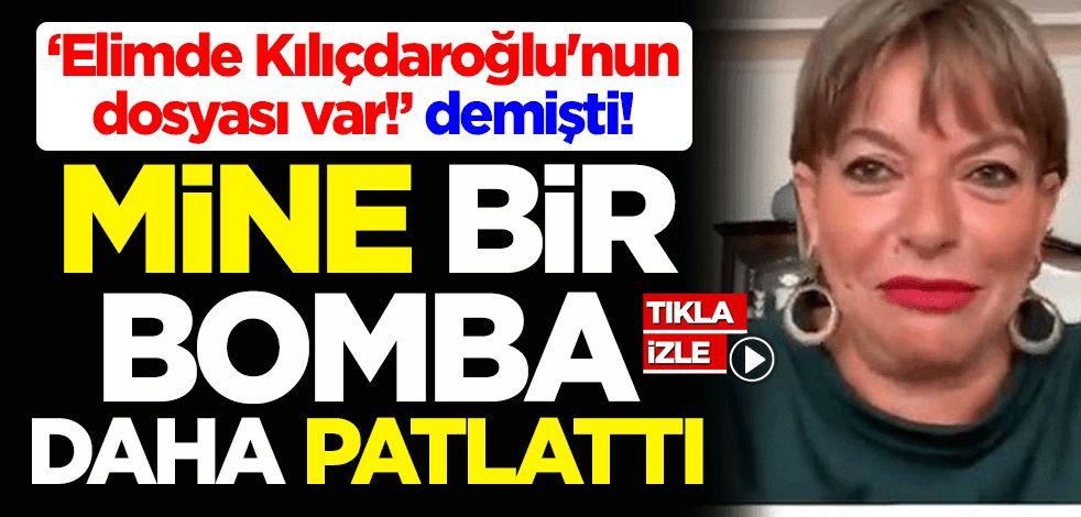 'Elimde Kılıçdaroğlu'nun dosyası var!' diyen Mine Kırıkkanat bir bomba daha patlattı